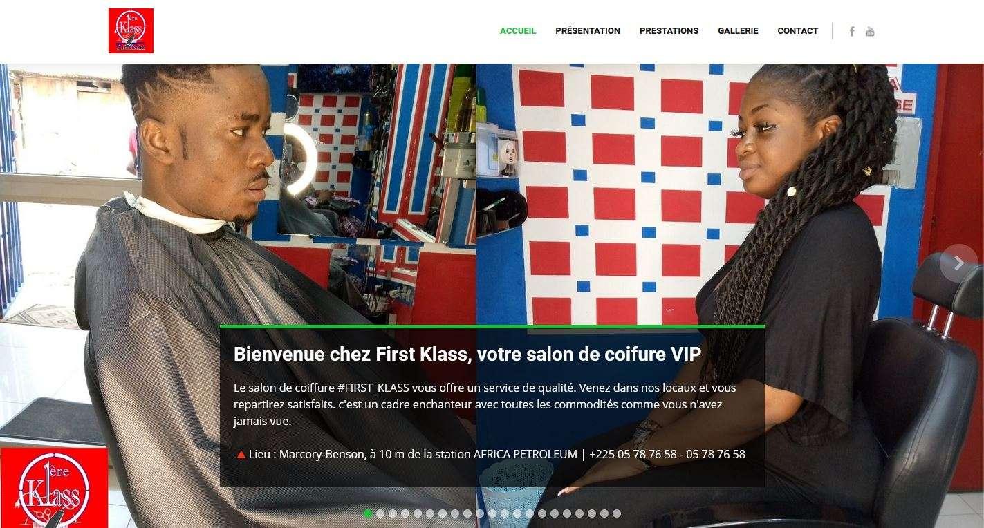 Image illustrative de la réalisation Création site internet du salon de coiffure 1ereklass