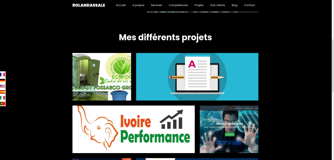 Création site internet portfolio de Guy-roland ASSALE