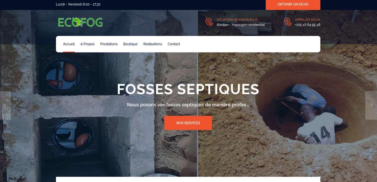 Image illustrative de la réalisation Création site internet de la société ECOFOG