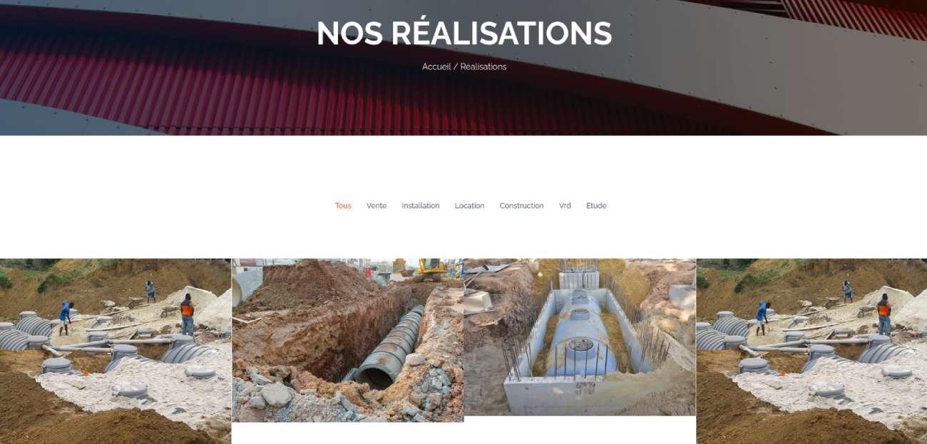 Création site internet de la société ECOFOG