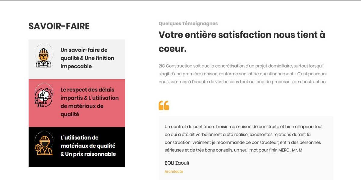 Création site internet de la société 2ICSARL